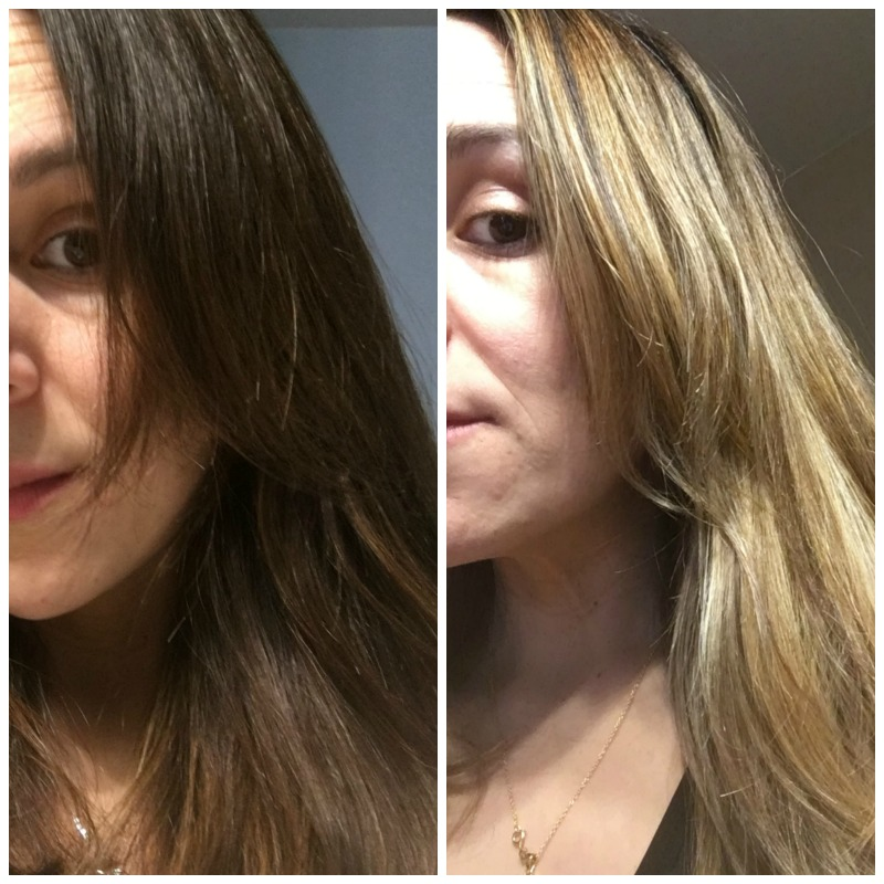 brunette to balayage blonde
