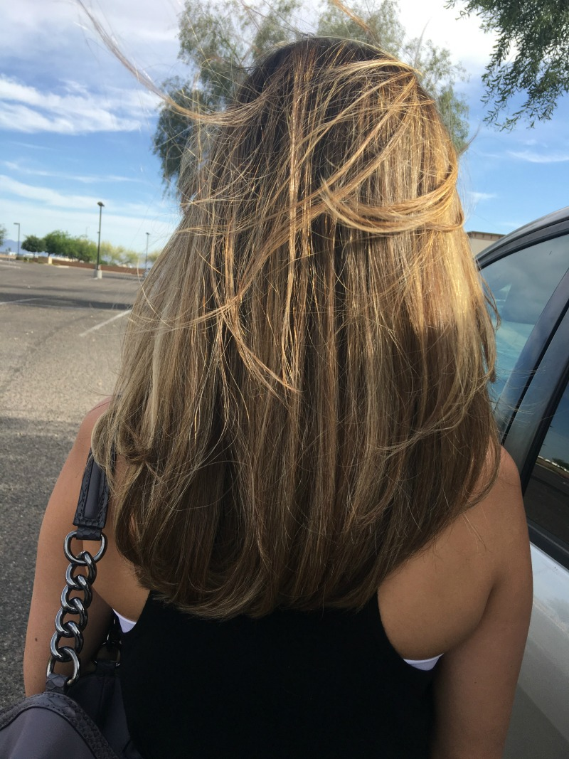 perfect blonde balayage from brunette