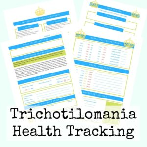 This is a great way to start tracking your child's diet and other things associated with their hair pulling behavior. Pediatric trichotillomania can be treated with a variety of methods if you can pinpoint some patterns.