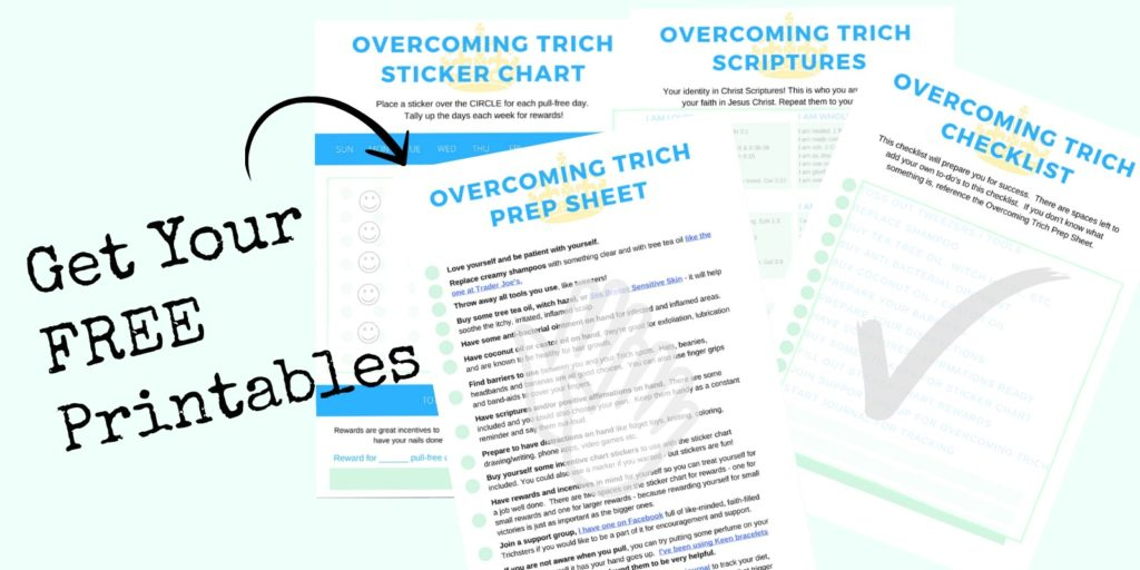 This trichotillomania sticker chart is a free printable PDF download. It's great for anyone who would like to stop hair pulling. There are some tips and tricks and products that can help make it easier to quit.