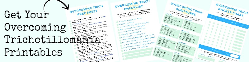 Would you like a free trichotillomania sticker chart to download and use to help motivate you to stop hair pulling? I used to use a sticker chart like this when I was first starting out because it help me incentivize myself and I would stop hair pulling for a prize.