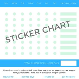 STICKER CHART FOR TRICHOTILLOMANIA - This free PDF sticker chart for is for people with a hair pulling disorder.