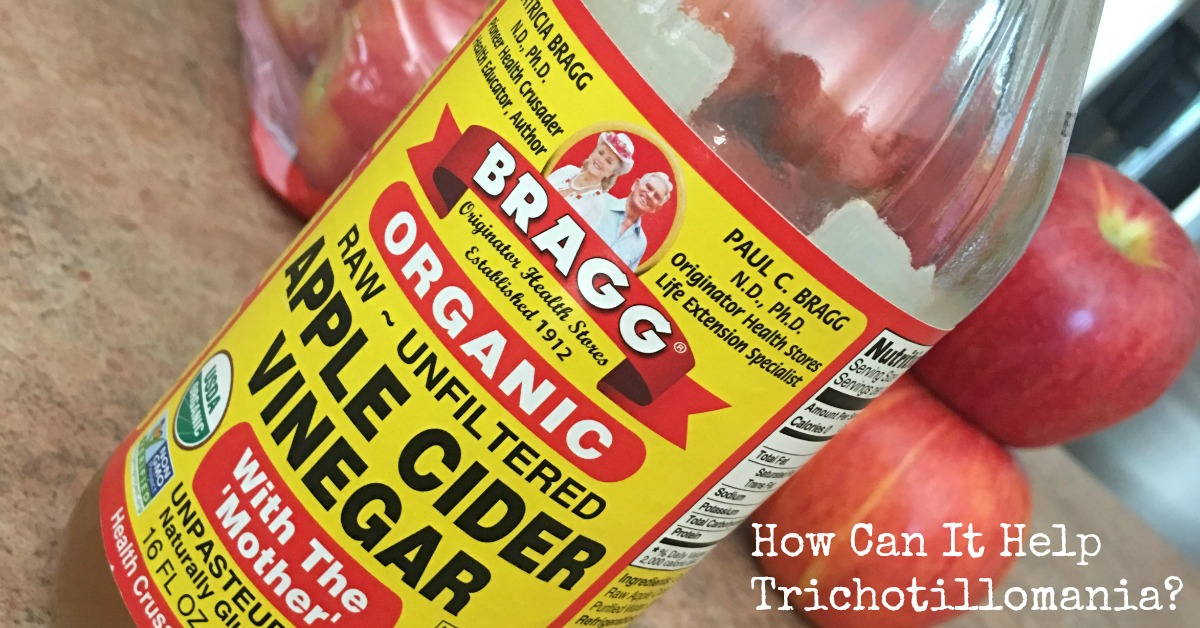 How Does Apple Cider Vinegar Help Hair Pulling Anxiety? This product has helped with my hair pulling disorder in a couple ways, find out how. It's a natural treatment, it can be used two different ways for hair pulling disorders.