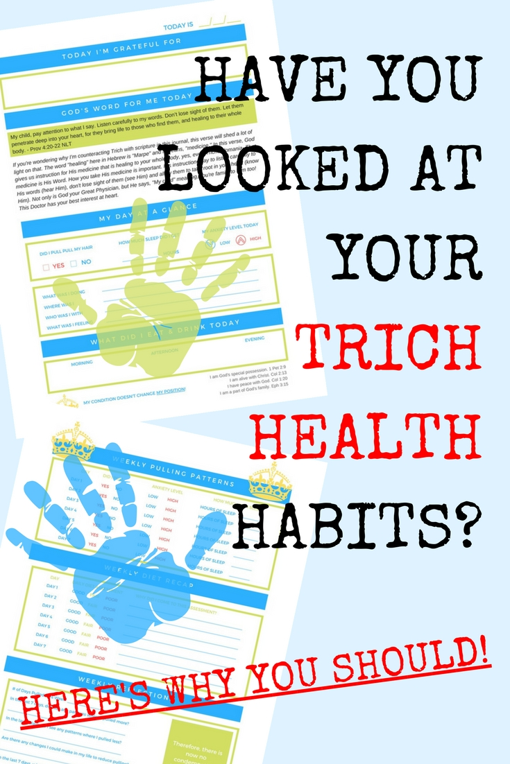 Do you want to stop pulling your hair out? I know I did and that's what led me to create this health tracking journal, I knew from various articles online that tracking my trichotillomania triggers was the best way to stop hair pulling.