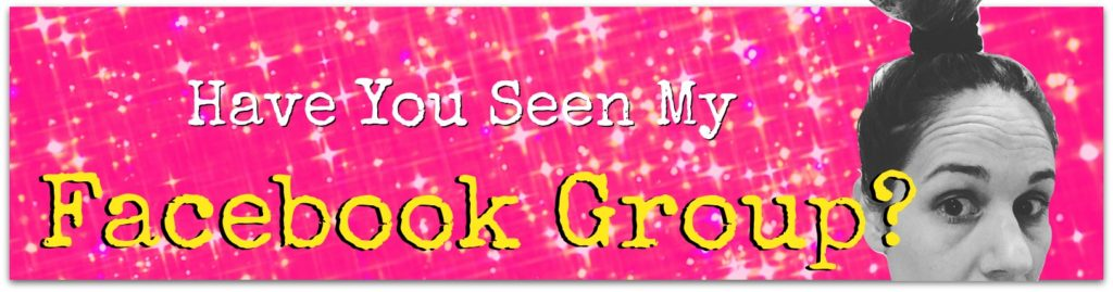 have you seen my facebook group