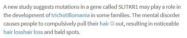 trichotillomania genetics