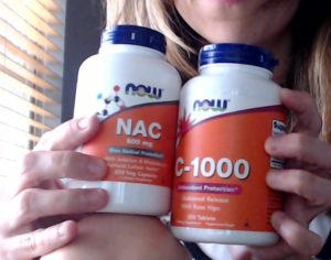 These are the vitamins to pair when taking a NAC supplement for trichotillomania.