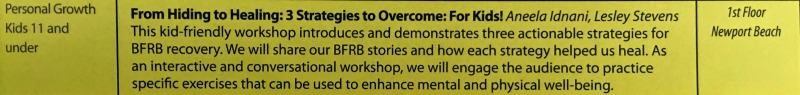 Our BFRB Conference Session