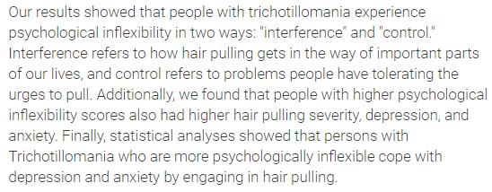 Trichotillomania and Depression Studies