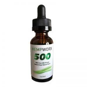 500 mg natural CBD Oil for Trichtoillomania, No Additives, Organic
